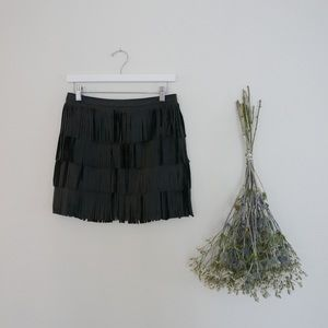 Dresses & Skirts - Leather Fringe Mini Skirt